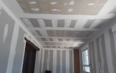 Réalisation d'une pièce en plaque de plâtre