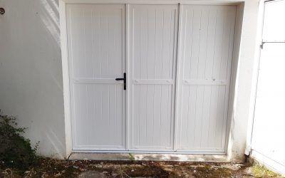 Changement d'une porte de garage
