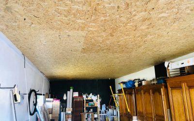 Isolation d'un plafond de garage