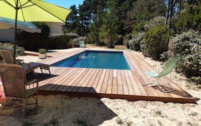 Terrasse en contour de piscine